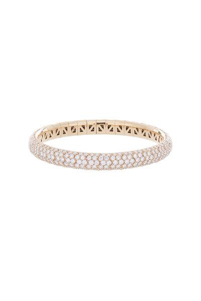 Mattia Cielo - 18K Rose Gold Diamond Universo Bangle