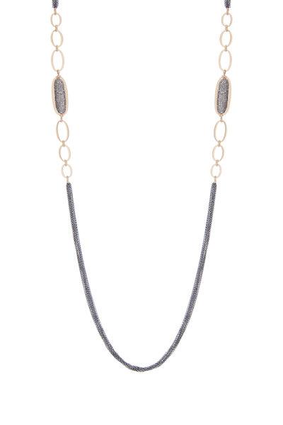 Dana Kellin - 14K Gold & Silver Pavé Diamond Link Chain