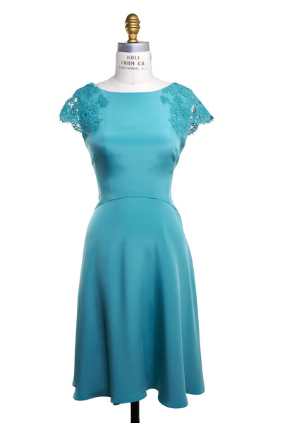 Reem Acra - Turquoise Silk Dress