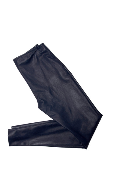 The Row - Notterly Blue Leather Leggings