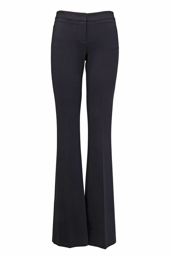 Derek Lam Black Jersey Boot Cut Trousers
