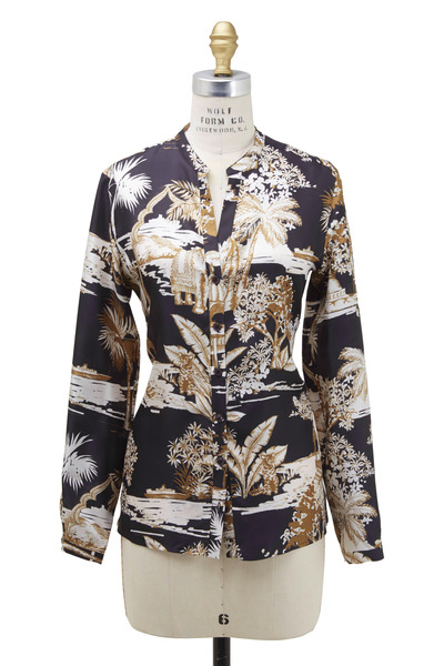Etro - Black Pagoda Blouse