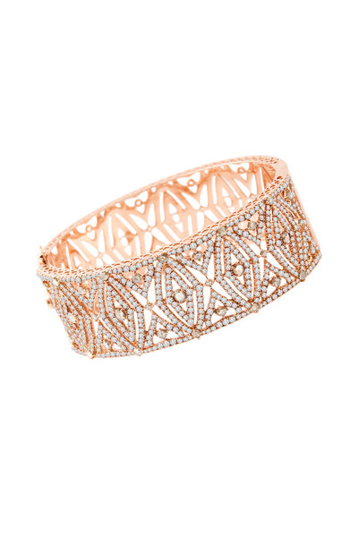 Sutra - 18K Rose Gold Diamond Cuff Bracelet