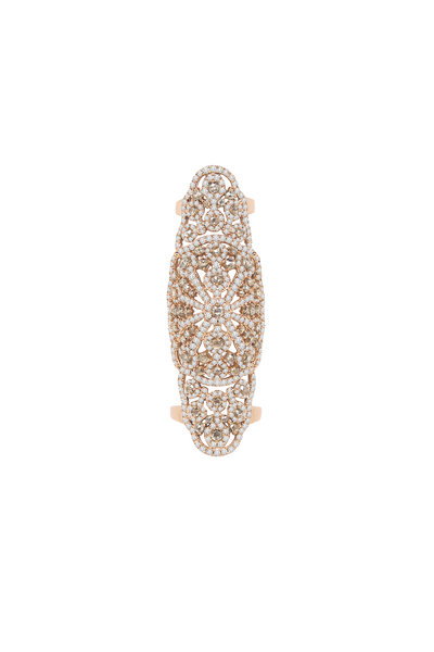 Sutra - 18K Rose Gold Diamond Long Ring
