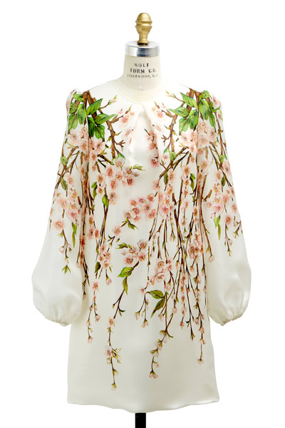 Dolce & Gabbana - White Stuioa Print Long Full Sleeve Dress