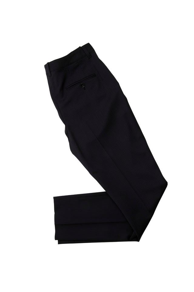 Chalk Stripe Straight Leg Pants