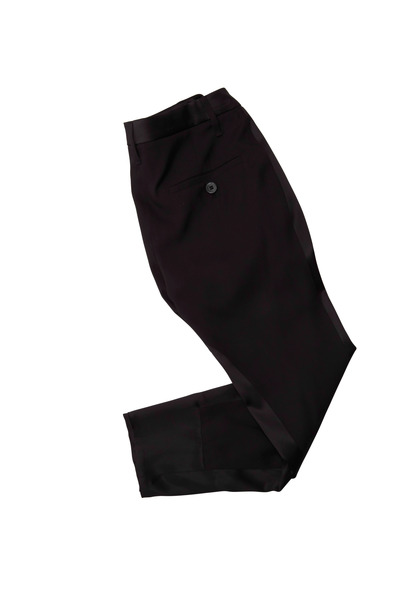 Brunello Cucinelli - Black Silk & Satin Pants