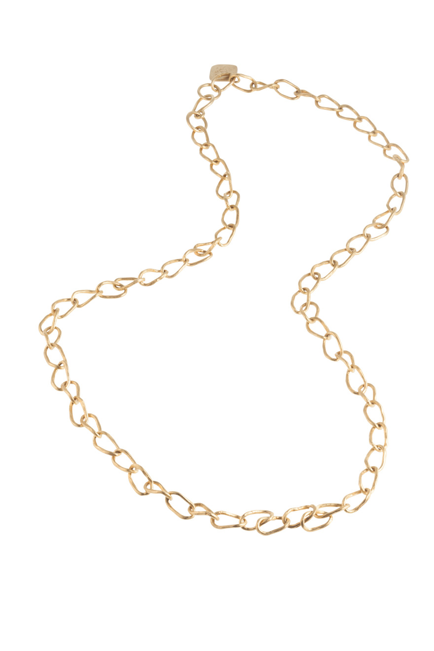 Light Bronze Link Chain Necklace