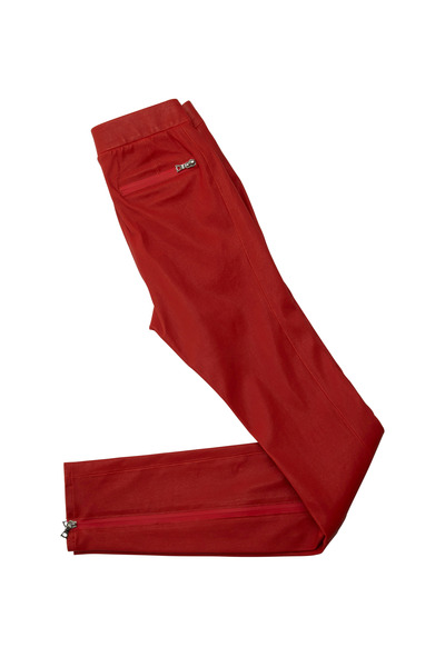J Brand - Bartlett Red Leather Pants