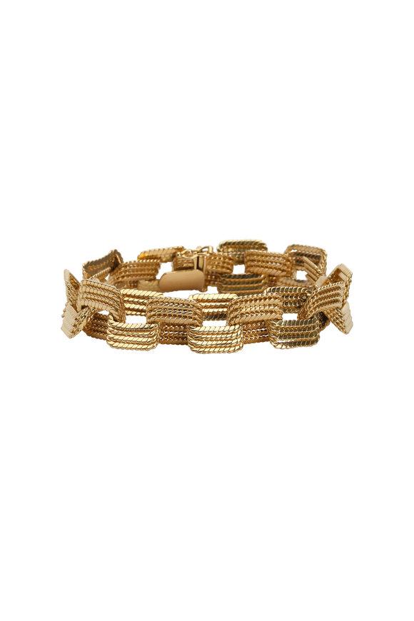 Fred Leighton 18K Yellow Gold Square Link Bracelet