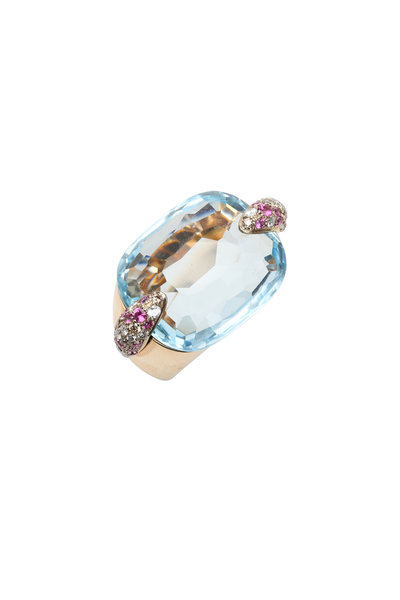 Pomellato - Rose Gold Blue Topaz Ring