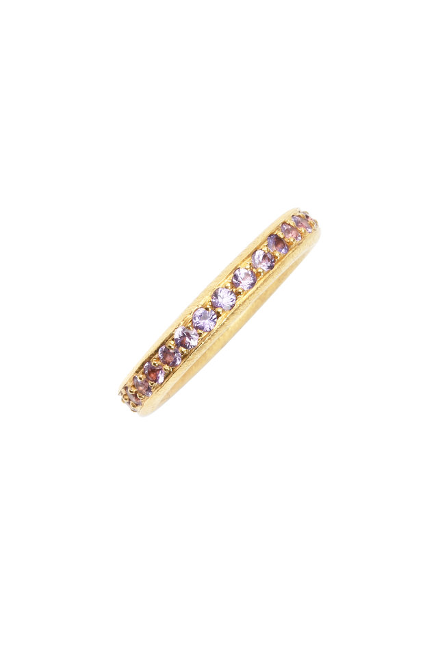 22K Yellow Gold Purple Sapphire Solstice Band