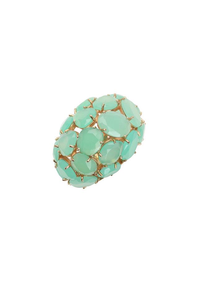 Capri 18K Rose Gold Chrysoprase Dome Ring