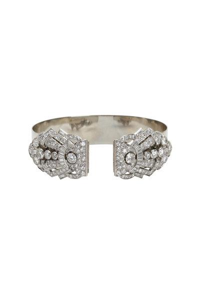 Fred Leighton - Platinum Diamond Art Deco Bangle