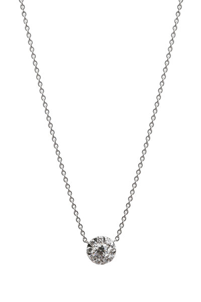 Kwiat - 18K White Gold Diamond Sunburst Pendant Necklace