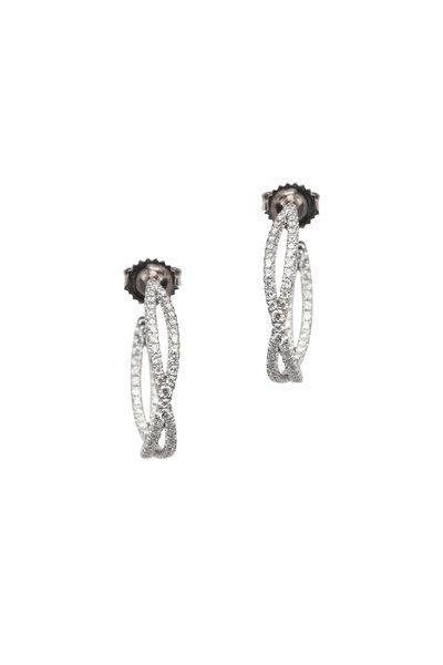 Kwiat - 18K White Gold Diamond Fidelity Earrings
