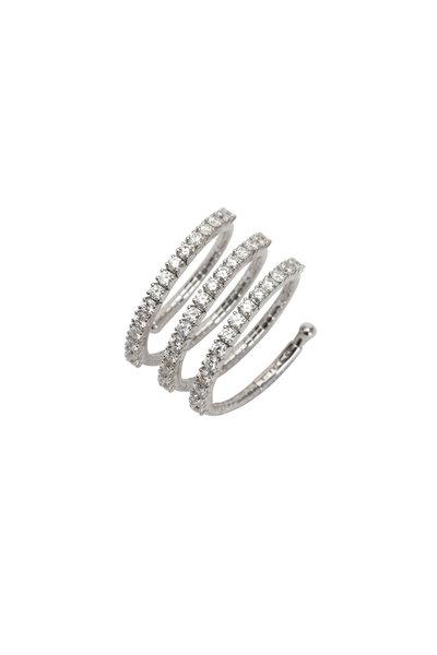 Mattia Cielo - 18K White Gold Pavé Diamond Coil Ring