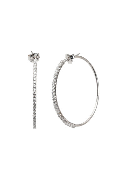 Mattia Cielo - 18K White Gold Diamond Hoops