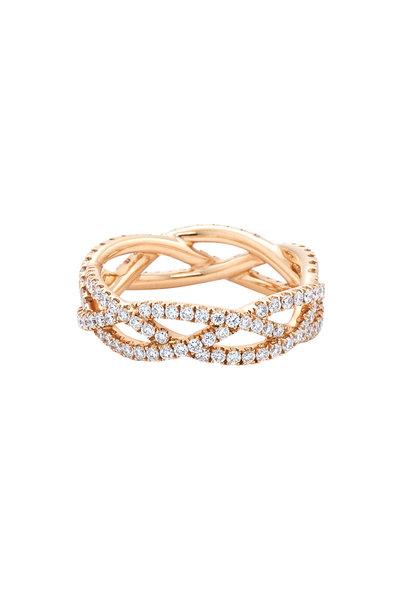 Kwiat - 18K Pink Gold Diamond Twist Band