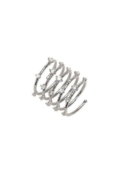 Mattia Cielo - Titanium Diamond 5 Coil Ring