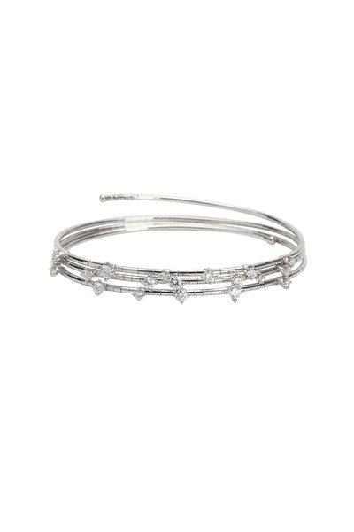 Mattia Cielo - Titanium Diamond 3 Coil Bracelet