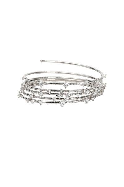 Mattia Cielo - Titanium Diamond 5 Coil Bracelet