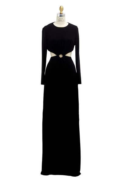Michael Kors Collection - Black Jersey Cutout Gown