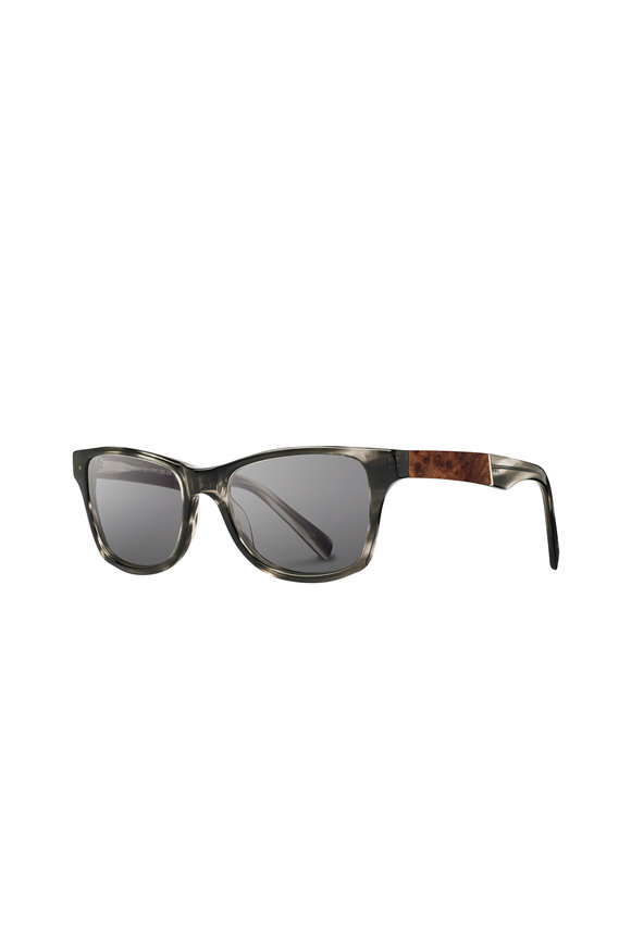 Shwood Canby Acetate Pearl Gray Wayfarer Sunglasses