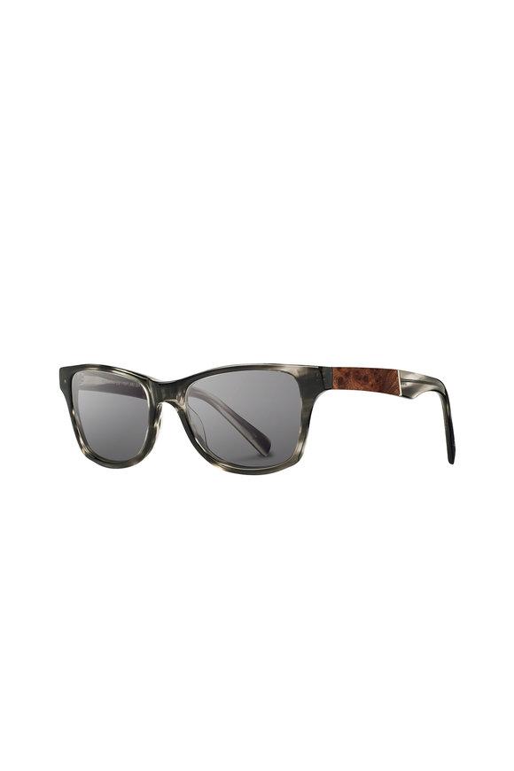 Shwood Canby Acetate Pearl Gray Wayfarer Sunglasses