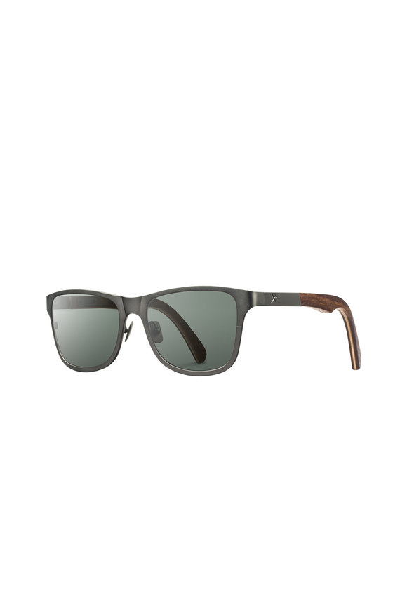 Shwood Canby Gunmetal Wayfarer Sunglasses