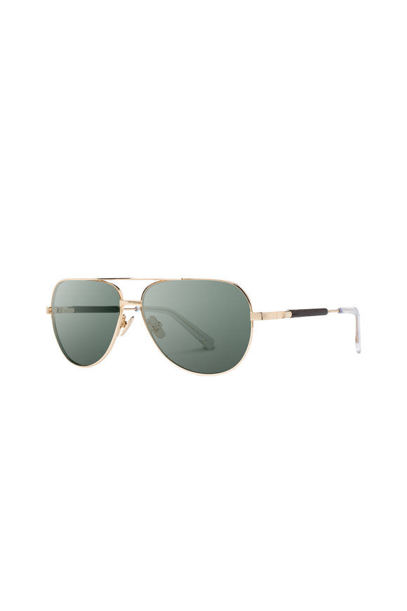 Shwood Redmond Gold Aviator Sunglasses