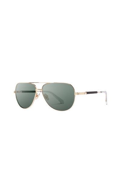 Shwood - Redmond Gold Aviator Sunglasses