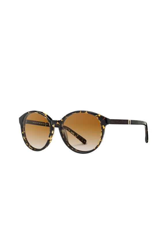 Shwood Bailey Dark Speckle Round Sunglasses