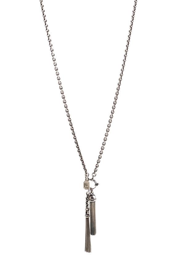 Kary Kjesbo Sterling Silver Italian Tassel Necklace