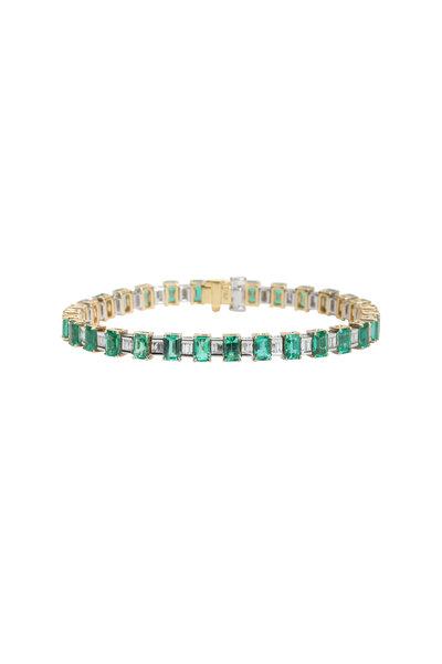 Frank Ancona - Yellow Gold Emerald & Diamond Bracelet