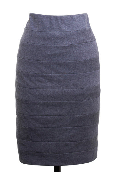 Brunello Cucinelli - Grey Jersey Pencil Skirt