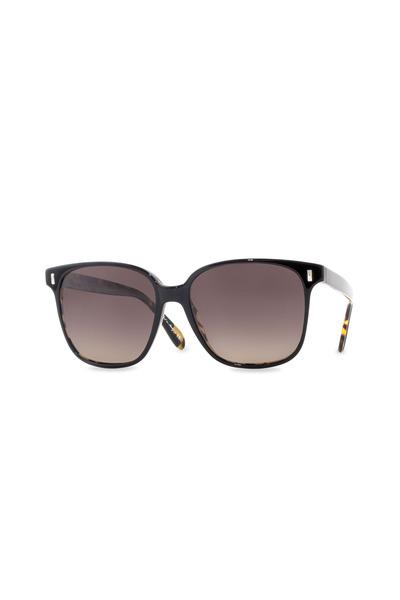 Oliver Peoples - Marmont 57 Black & Dark Turquoise Sunglasses