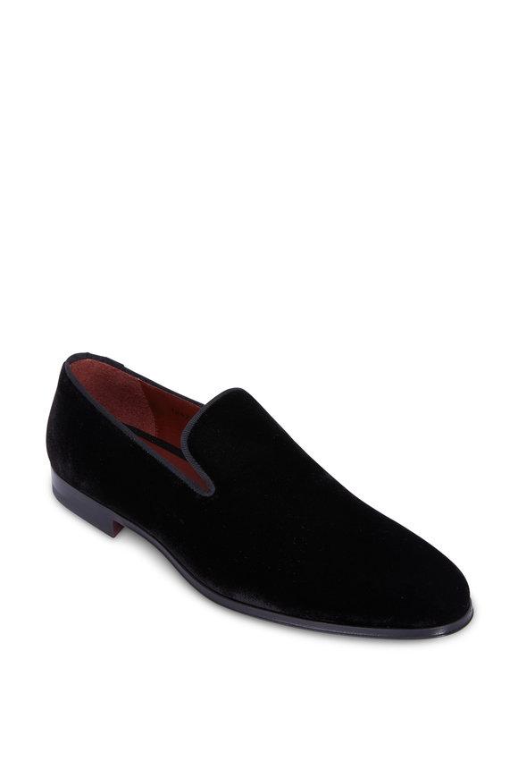 Magnanni Dorio Black Velvet Loafer