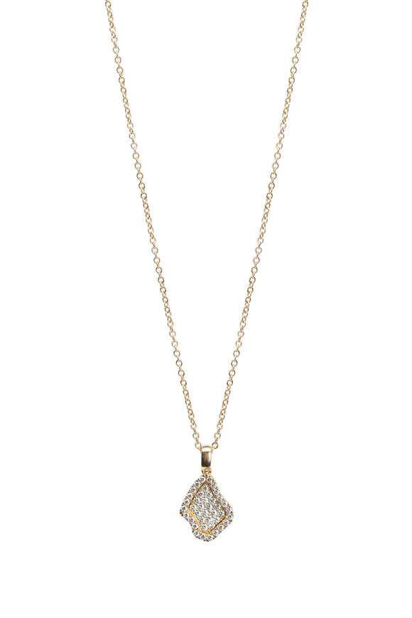 Kimberly McDonald 18K Yellow Gold Pavé Geode Mini Pendant Necklace