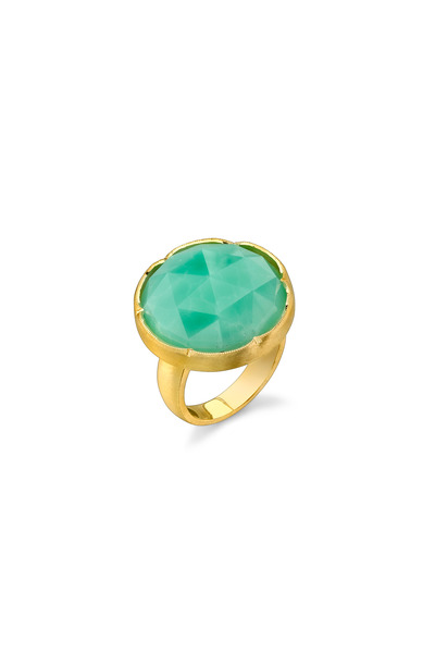 Irene Neuwirth - Yellow Gold Chrysoprase Ring