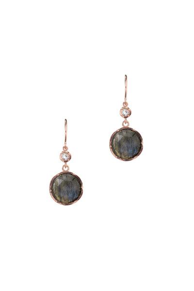 Irene Neuwirth - Rose Gold Labradorite Diamond Dangle Earrings