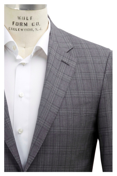 Ermenegildo Zegna - Grey Plaid Custom Sportcoat