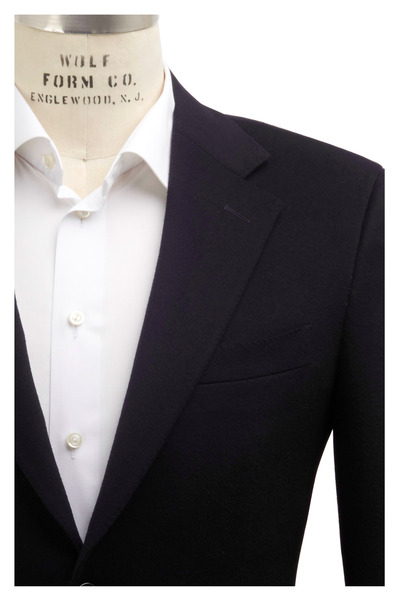 Canali - Solid Navy Blue Cashmere Sportcoat