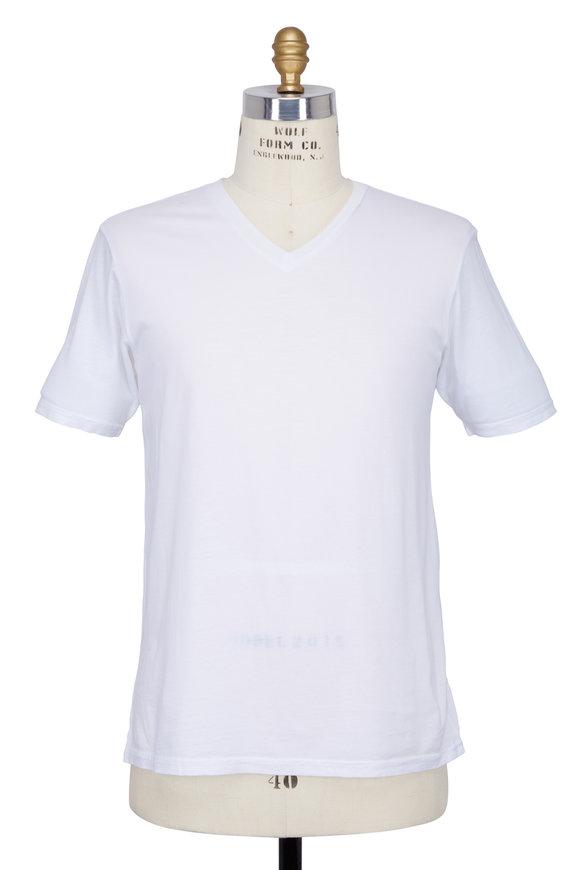 Good Life White V-Neck T-Shirt