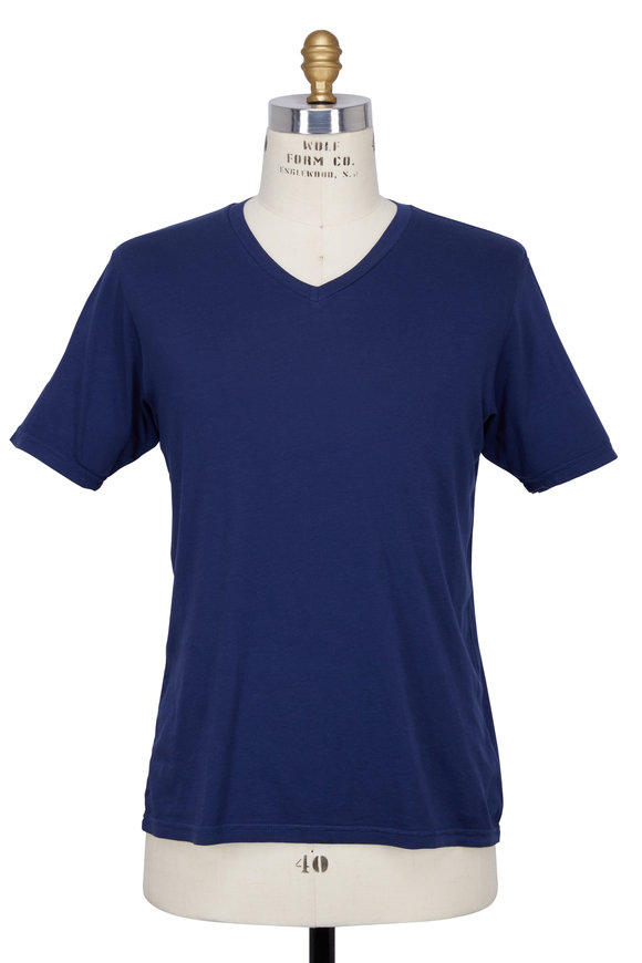 Good Life Navy Blue V-neck T-shirt
