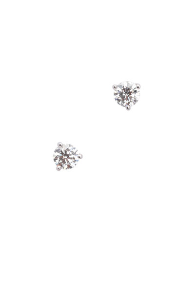 Kwiat - 18K White Gold Diamond Studs