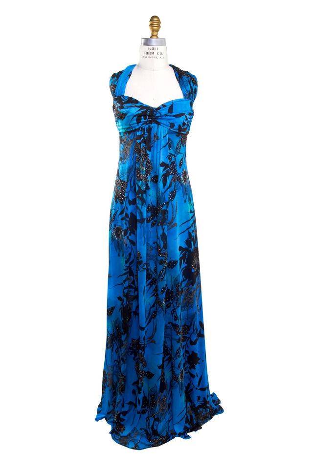 Blue Jersey Gown
