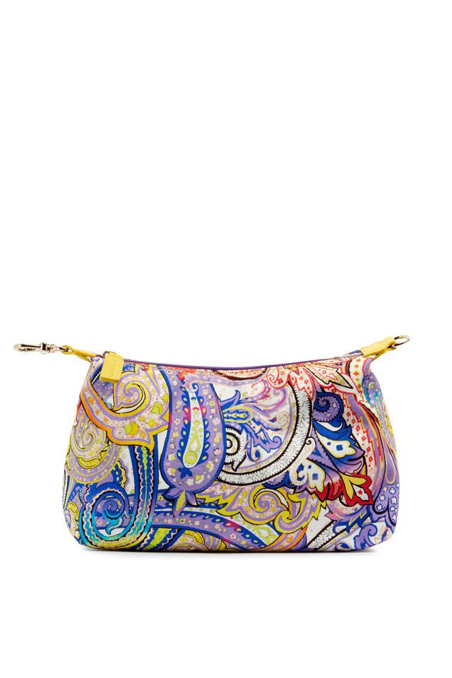 Multicolor Paisley Canvas Cosmetic Bag