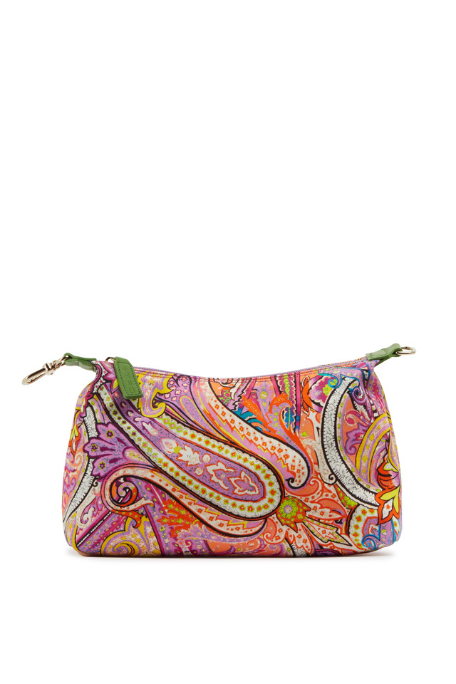 Multicolored Paisley Canvas Cosmetic Bag