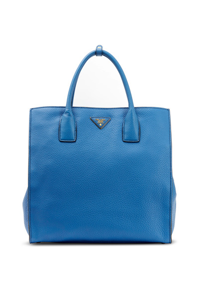 Prada - Cobalt Vitello Leather Tote
